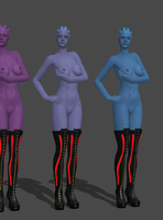 Asari Strippers 3! by anorexianevrosa