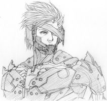 Raiden MGR sketch by Kyokinette