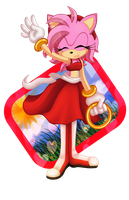 Collab:Miss Amy Rose by LilyDaHedgieCat
