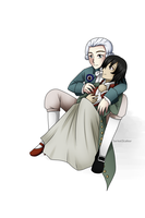 + Me and Lavoisier (From Skype Roleplay Chat) + by Serket-XXI