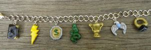 7 Horcruxes Charm Bracelet by geeekalicious