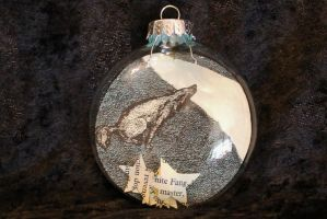 Small White Fang Ornament by wetcanvas