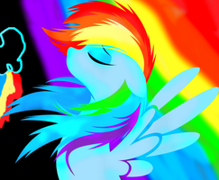 Rainbow Dash Wallpaper by LoveAwesomeHeart