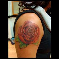 Cover up rose tattoo by kshandor