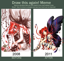 -Before and After Meme- Miharu Butterfly by Miharuruu