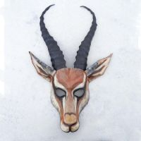 Leather Gazelle Mask by Teonova by teonova