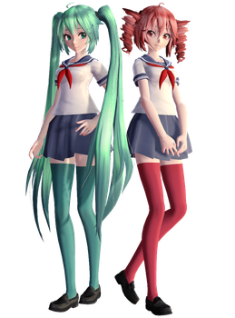 Miku + Teto in Yandere Simulator by FemaleST