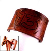 Fallout Vault 13 Leather Cuff by Skinz-N-Hydez