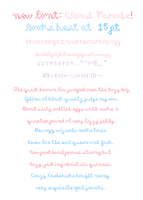 Cloud Parade Font by zara-leventhal