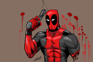 deadpool sketch by Leeahd