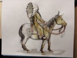 lunch doodle - on horseback by GilTriana