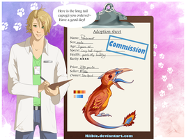 Lewis the vet: Peachracot -Commission- by Kiibie-Adopt