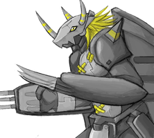 Drawr - BlackWarGreymon by Hideyo