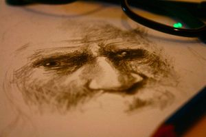 doodle of an old man by vipinraphel