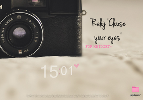 'Clouse your eyes' Skin for xwidget. by NoMoreFakeSmiles