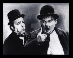 laurel and hardy by EatToast