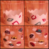 Pokemon shotglasses by cutiechibi