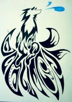 Ninetales Tribal Art by sruo