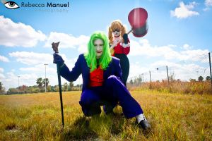 Joker and Harley Quinn by Rebecca-Manuel