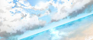 All I can do is sky paintings by tsunderenyan