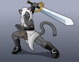 Rongs1234: Kitty Swordplay by XennyDiemes