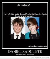 Harry Potter thinks Justin is a Gir ! by SuperSNSDFan