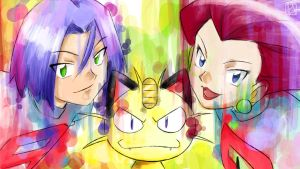 Splash of Team Rocket! by Iza-nagi