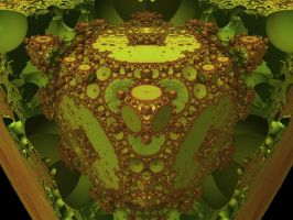 Raytraced Mandelbox Fractal 7 by mcsoftware