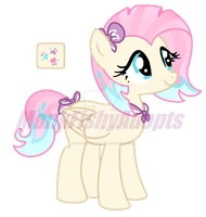 Coco PommelxFluttershy Adoptable - SOLD by MonkFishyAdopts
