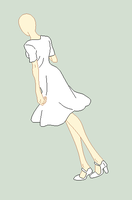 Traced Base - Simple Dress by Shadow-Bases