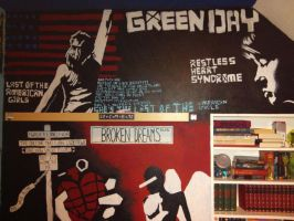 Green Day wall painting by Yitty