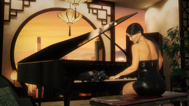 Piano kitty by jambek