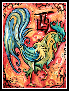 Chinese Zodiac: ROOSTER by IceandSnow