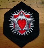 ME2 Embroidered romance achievement medal by sleepyhamsteri