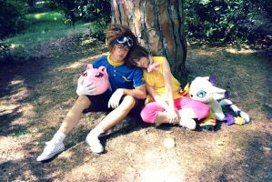 Digimon Cosplay - Kari and Tai. by emitatufan