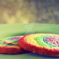 Rainbow Cookies by NayeliNeria