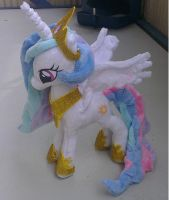 Princess celestia small plush *finished* by Epicrainbowcrafts