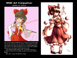 Nsio Art Comparison: 2009 vs. 2013 by Nsio