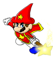 Wizard Mario by LeftyGreenMario