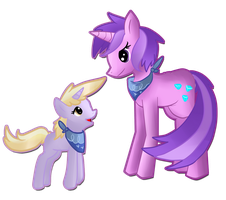 Sparkler and Dinky by SilverLucario12