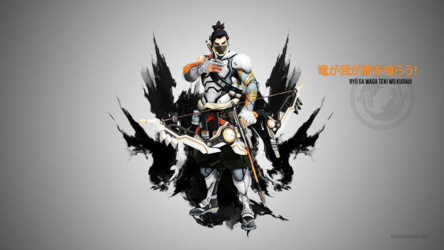 Overwatch Hanzo Wallpaper - Cyborgninja by Akaniya