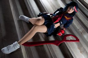 Ryuko Matoi Cosplay: Life Fiber Delinquent by Khainsaw