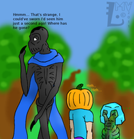 Invisible Pumpkin-head by SpontaneousFork