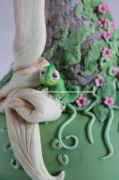 rapunzel cake the chameleon Pascal by zoesfancycakes