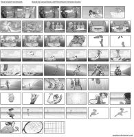 Shoe Ad storyboards by poojipoo