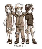 Old school Team 7 by kittychasesquirrels