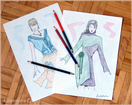 The selection of sketches for the new collection 9 by AnnaZLove