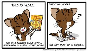 visas is in a comic book by kevinbolk