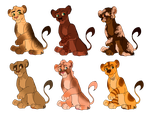 Lion Cub Adoptables (OPEN) by lord-timey