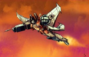 soaring seeker.starscream by emanz